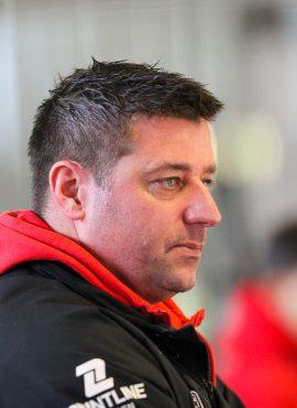 Martin Flemming (Trainer), Rote Teufel Ostercup 2018 - Rote Teufel Bad Nauheim gegen Red Eagels Den Bosch (NL), Bad Nauheim, Colonel-Knight-Stadion, 31.03.18  Flemming (Trainer), Rote Teufel Ostercup 2018 - Rote Teufel Bad Nauheim gegen Red Eagels Den Bosch (NL), Bad Nauheim, Colonel-Knight-Stadion, 31.03.18